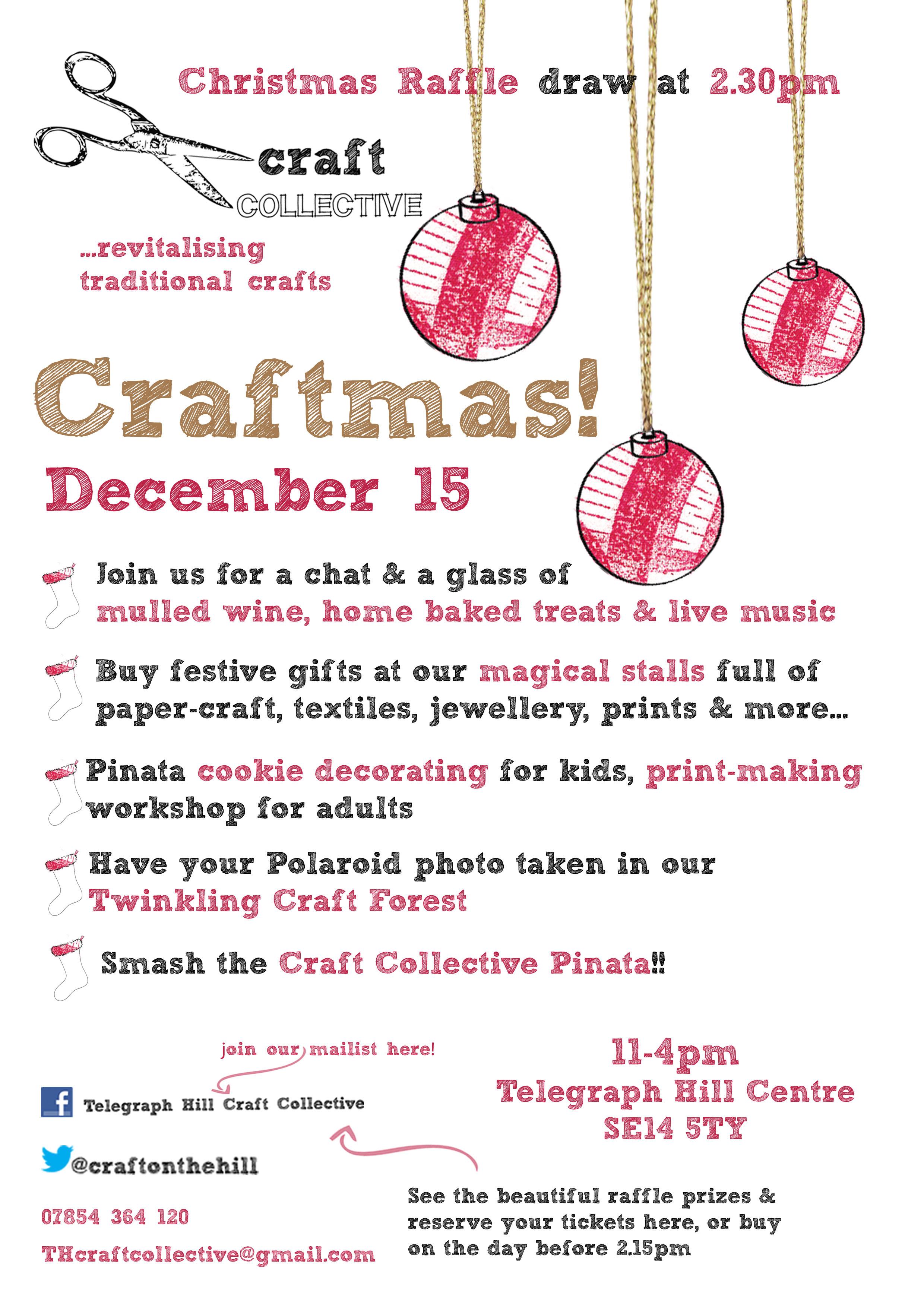 Craft Collective - 15th December, Telegraph Hill Centre