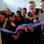 Sir Steve Bullock, Mayor of Lewisham, with members of Telegraph Hill Centre Youth Club, opening our new loo