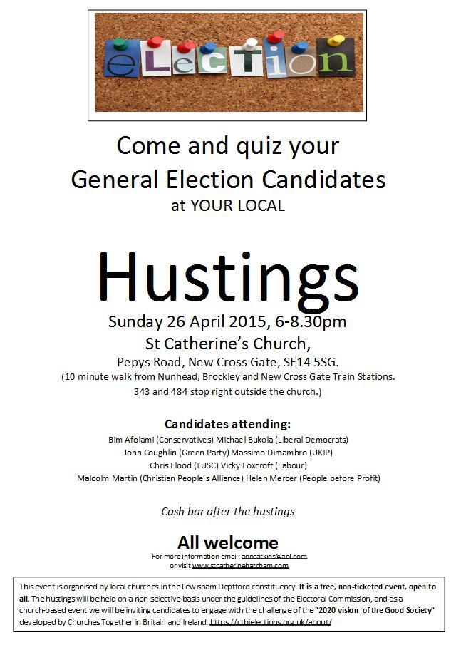 General Election 2015: Hustings