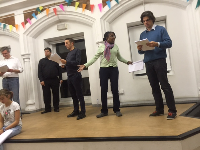 Mother Goose in Rehearsal