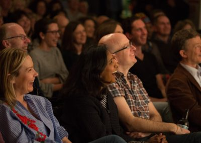 Audience enjoying a panto