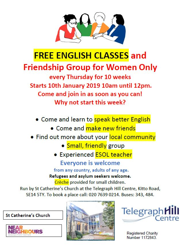 English classes and Friendship Group for Women