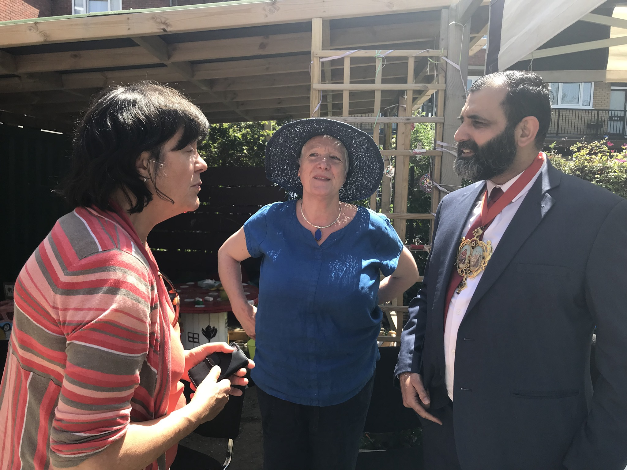 L to R : Cllr Joan Millbank, Zanne Findlay (Chair of Telegraph Hill Centre Steering Group), and Cllr Tauseef Anwar (Vice Chair of Lewisham Council).