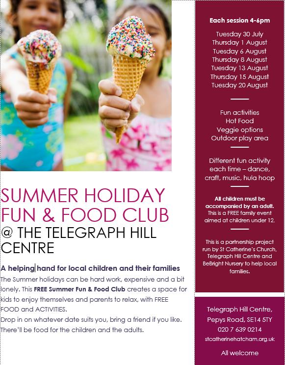 Free summer fun and food club