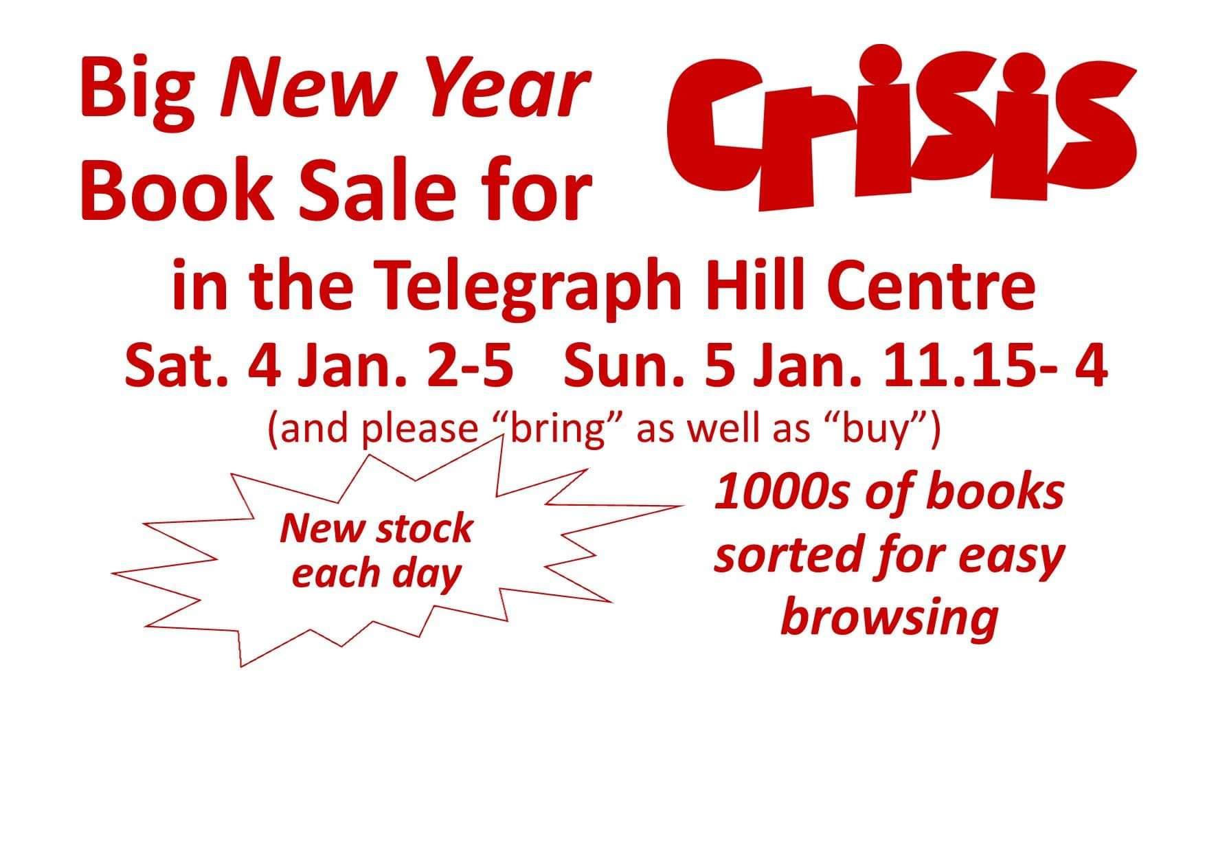 Crisis fundraising booksale