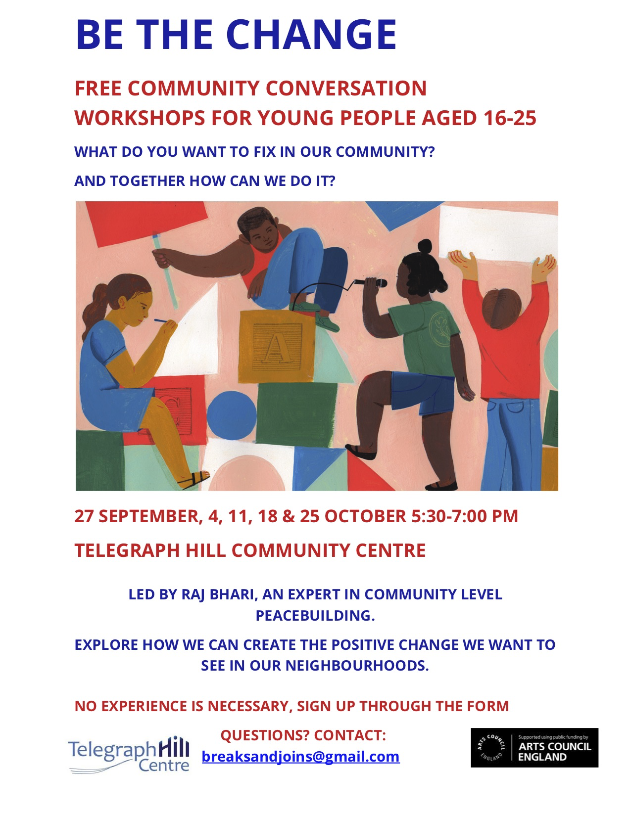 Be The Change – Free Community Conversation Workshops for Young People